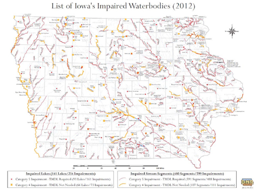 Fig 3 Map of Impaired Waterways