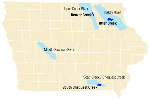 Iowa Watersheds Project map
